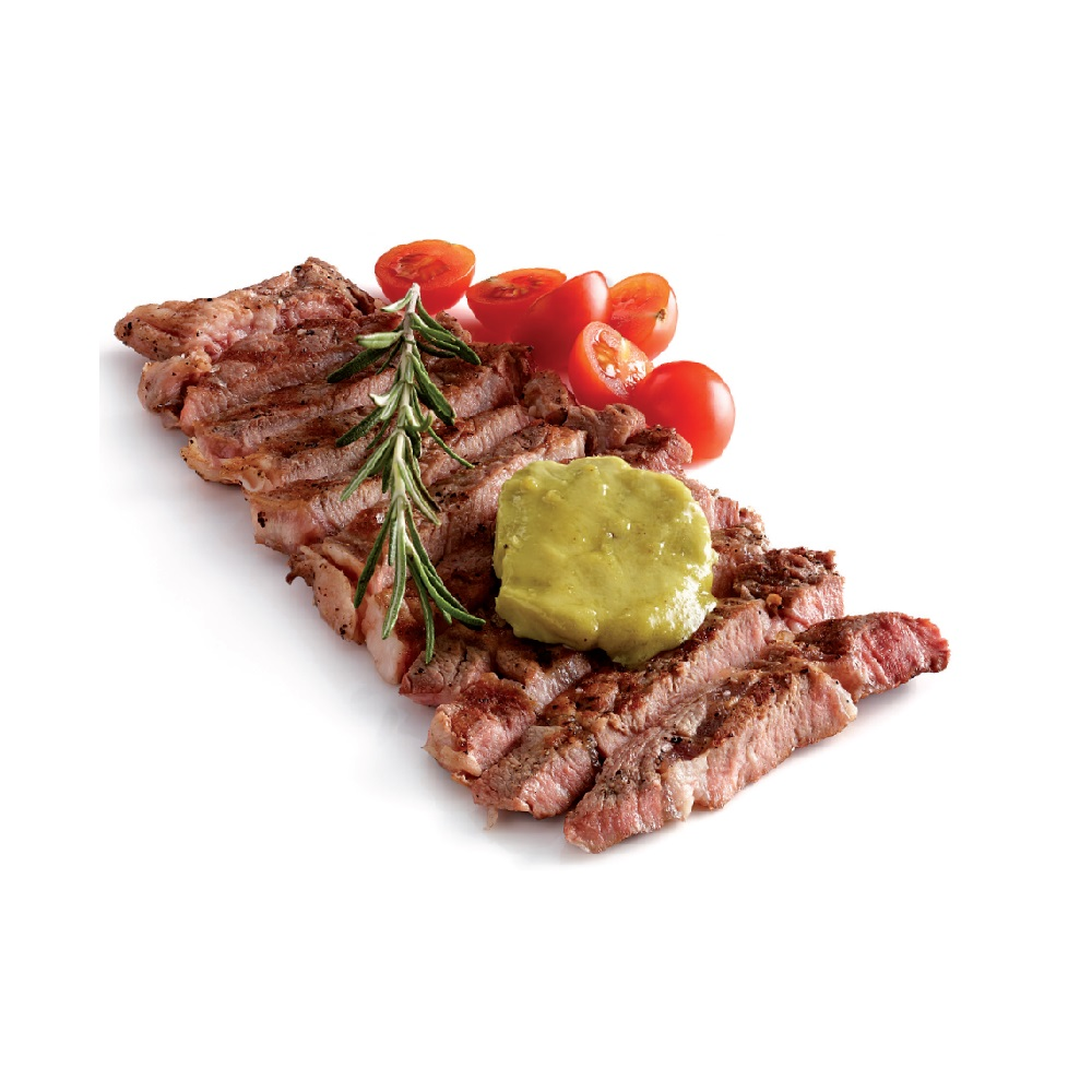 gyuniku wasabi flank juicy steak with delicate butter with wasabi and ...